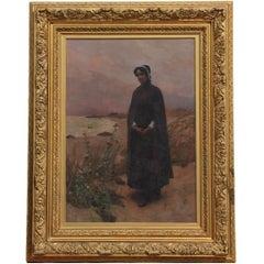 "Large Portrait of Hester Prynne From the ""Scarlet Letter"""
