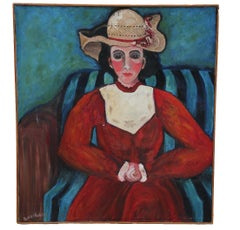 """Easter Hat"" Impressionist Portrait of a Woman"