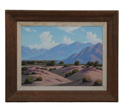 Idealized California Desert Landscape Painting