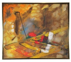 Abstract Expressionist Yellow Toned Painting