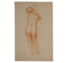 Naturalistic Study of a Standing Nude Woman