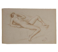 Naturalistic Nude Laying on Bed Study
