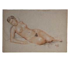 Naturalistic Study of a Reclining Nude Woman