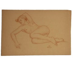 Figurative Study of a French Nude Woman