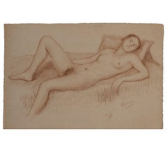 Reclining Naturalistic Nude Woman Study