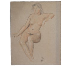 Naturalistic Seated Nude Study