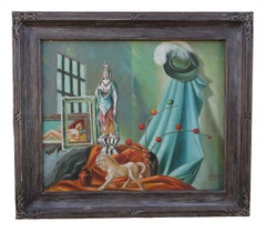 Naturalistic Early Still Life Painting in a Newcomb Macklin Frame