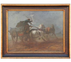 Horse Drawn Wagon Mid 19th Century Painting