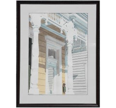 Naturalistic Architectural Painting of a House in Galveston