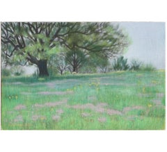 """""""Wildflowers Under the Big Tree"""" Naturalistic Landscape Painting"""