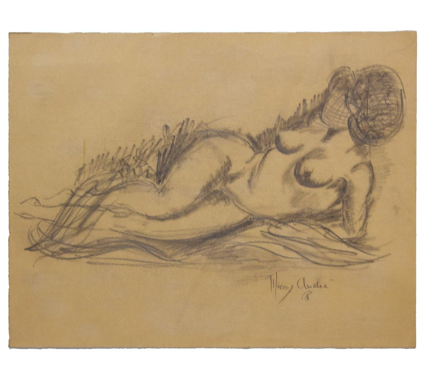 Reclining Nude French Study