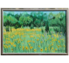 Naturalistic Summer Landscape with Coreopsis