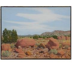 Realistic Desert Landscape Painting