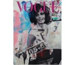 Sophia Loren Pop Art Collage Portrait with Vogue