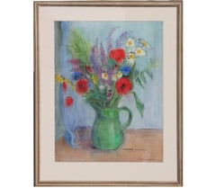 """Field Flowers"" Watercolor Floral Still Life"