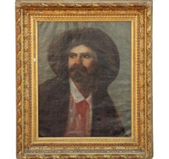 Early American Traditional European Cowboy Portrait