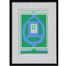 """Trinity"" Geometric Pop Art Style Serigraph Edition of 10"