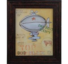 """""""Blimp Jet"""" Contemporary Surrealist Painting"""
