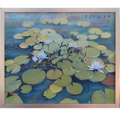 """Waterlilies"" After Nature Floral Painting"