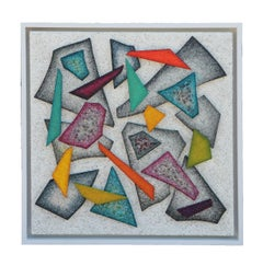 """""""Fragmentation"""" Crushed Glass Contemporary Geometric Abstract Painting"""