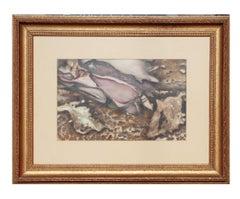 Earth Tonal Organic Abstract Watercolor Painting
