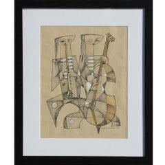 Untitled Cubist Style Musicians