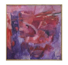 """""""The Second Day"""" Large Abstract Expressionist Pink and Purple Painting"""