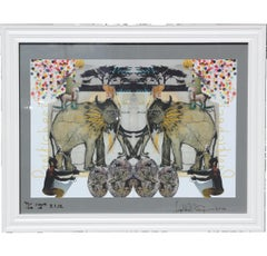 Contemporary Surrealist Elephant Serigraph Edition 40 of 100