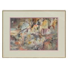 Watercolor Impressionist Landscape Painting