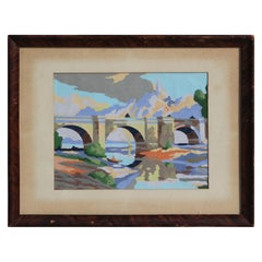 Pastel Impressionist Landscape Painting