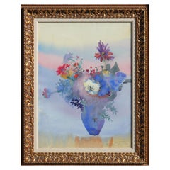 Watercolor Impressionist Floral Still Life