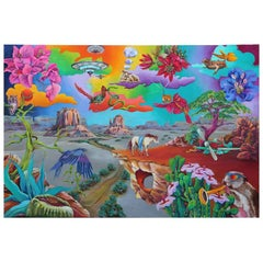 """Capriccio #2"" Colorful Fanciful Surrealist Landscape Painting"