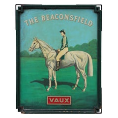 """The Beaconsfield"" Early 20th Century English Pub Double Sided Sign"
