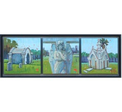 """""""Old Galveston Charm"""" Contemporary Triptych Painting"""