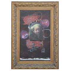 Contemporary Abstract Rembrandt Portrait