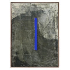 """Billy Ruben #1"" Contemporary Yves Kline Blue Sculptural Painting"