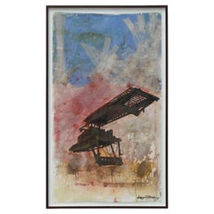 Untitled Large Contemporary Mixed Media Abstract Painting