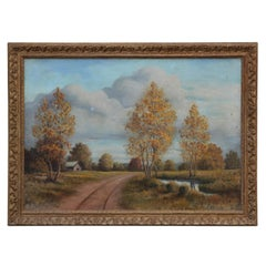 Naturalistic Pastoral Countryside Landscape Painting