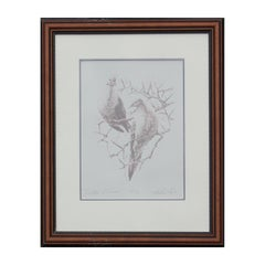 """Billin' and Cooin'"" Naturalistic Dove Lithograph 59/ 95"