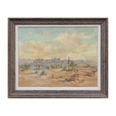 """Arizona Desert"" Naturalistic Pastel Toned Desert Landscape"