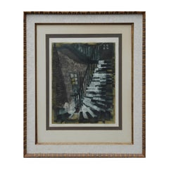 """Le Grand Staircase"" Modern Abstract Lithograph Edition 25/50"
