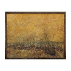 Neutral Tonal Large Landscape Painting