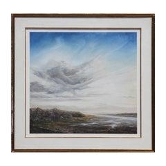 """Twenty-One Winter"" Large Sublime Pastel River Landscape"