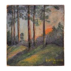 Untitled Italian Impressionist Style Landscape Painting