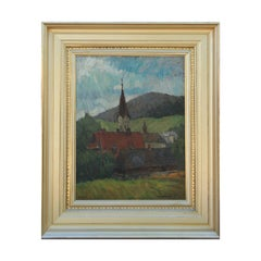"""Bulgaria Sofia"" Russian Impressionist Church Painting"