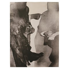 """El Diálogo"" Black and White Figurative Lithograph Edition 15/20"