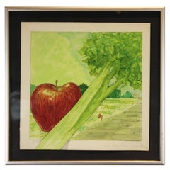 Untitled Still Life with an Apple and Celery