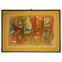 Untitled Orange, Blue and Red Geometric Abstract