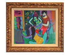 """Artist Studio"" Figurative Abstract"