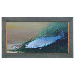 Texas Speckled Trout Acrylic Painting